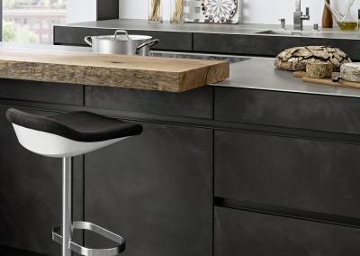 Cuisine b ton concrete leicht chez lui chez elle for Leicht cuisine