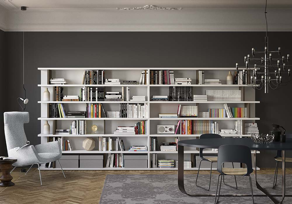 Biblioth que living puro pianca chez lui chez elle for Libri acquisto online sconti